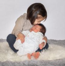 krystyne ramon, home studio photos, photographe naissance, famille
